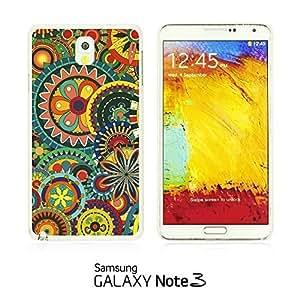 OnlineBestDigitalTM - Flower Pattern Hardback Case for Samsung Galaxy Note 3 N9000 - Multicolor Floral Shapes