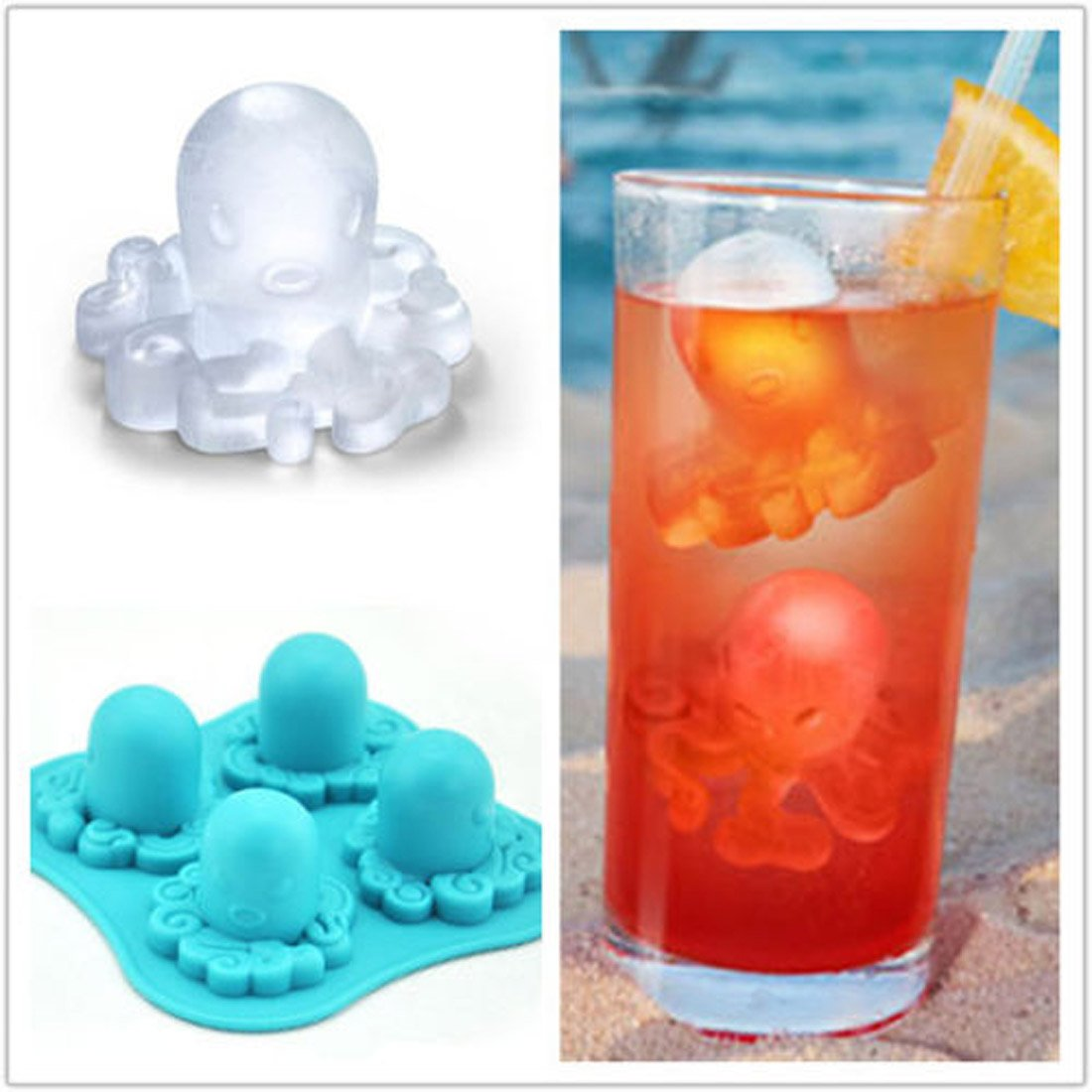 Octopus Mold Silicone Chocolat...