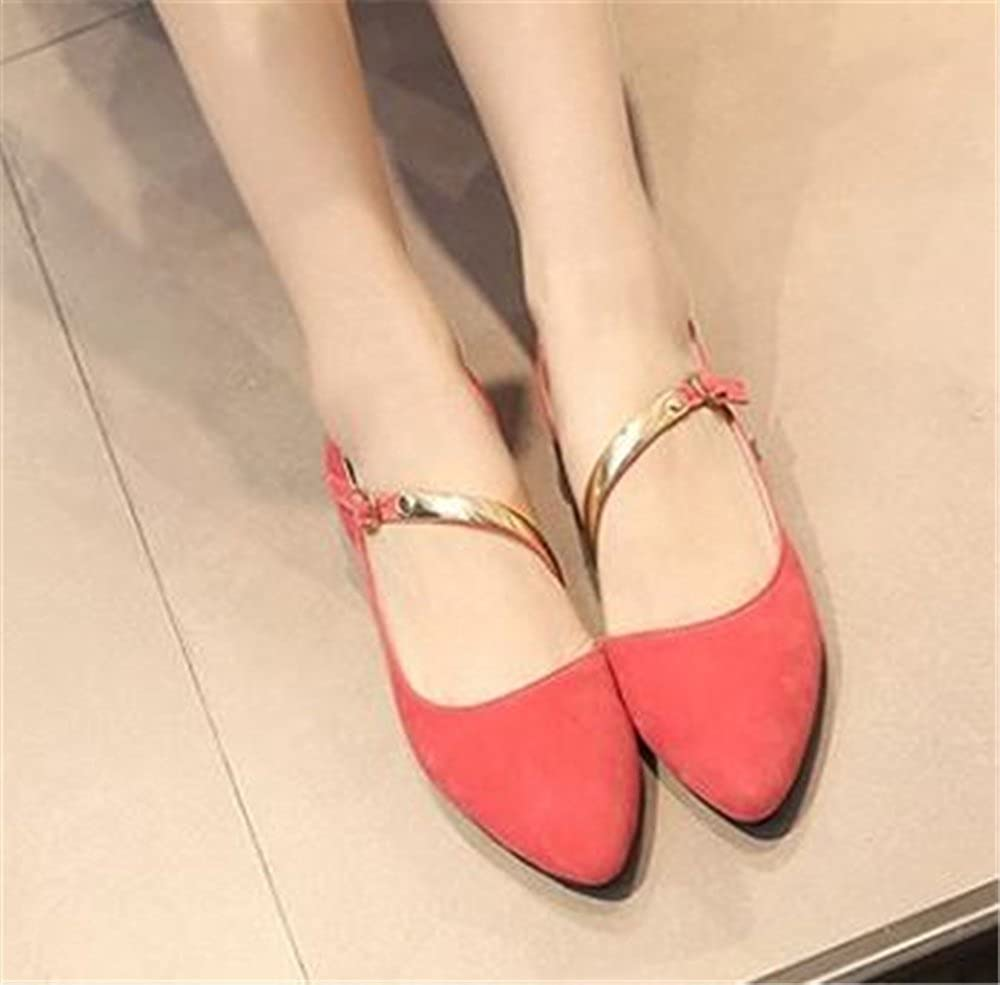 Gusha Solid Color Comfortable Casual Shoes Flat Womens Shoes Pointed Toe Loafers