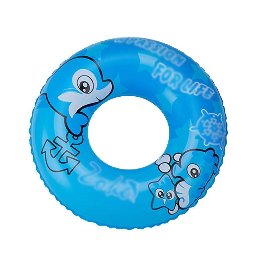 Kinder Aufblasbare Schwimmring Schwimmbad Schwimmring See Strand Treiben Schwimmende Reihe Cartoon-Muster Wasser Unterhaltung Spielzeug (Farbe   Blau, Größe   60cm) Blau 60cm