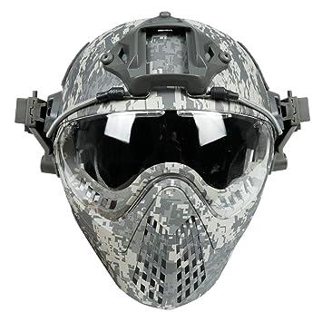 Amazon.com: YASHALY Cascos tácticos militares tipo PJ F22 ...
