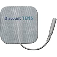 """TENS Electrodes - Value Wired 2x2 Replacement Pads for TENS Units - 20 TENS Unit Electrodes - 2""""x2"""" Wired TENS Unit Pads- Discount TENS Brand"""