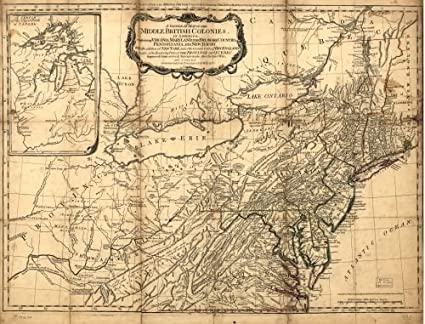 Map Of America Virginia.Amazon Com 1776 Map A General Map Of The Middle British Colonies