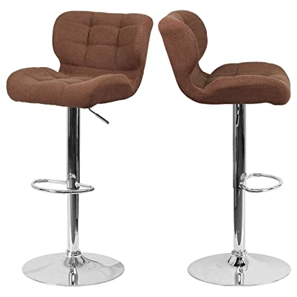 Miraculous Amazon Com Modern Mid Back Design Bar Stools Tufted Creativecarmelina Interior Chair Design Creativecarmelinacom