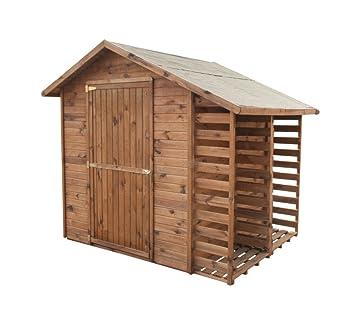 Fabulous Gartenhaus MASTER mit Brennholzregal | Holz| 2,9m² | 259x213 AE23