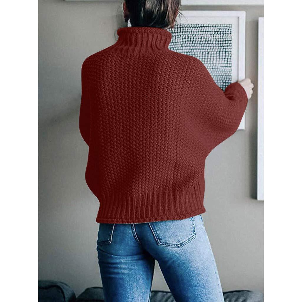 MERICAL Maglione Casual da Donna alla Moda Comfort Joker Warm Top Manica Lunga Maglione