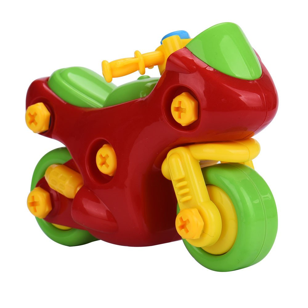 Kasenxet Baby Toy Car Disassembly Colorful Motorcycle Harley Educational Toys for Children Kids