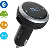 AGPtek Wireless In-Car Bluetooth 4.2 FM Transmitter Radio Adapter Car Kit with Faster USB Car Charger and Hands Free Calling, Support TF Card and USB Flash Disk Play