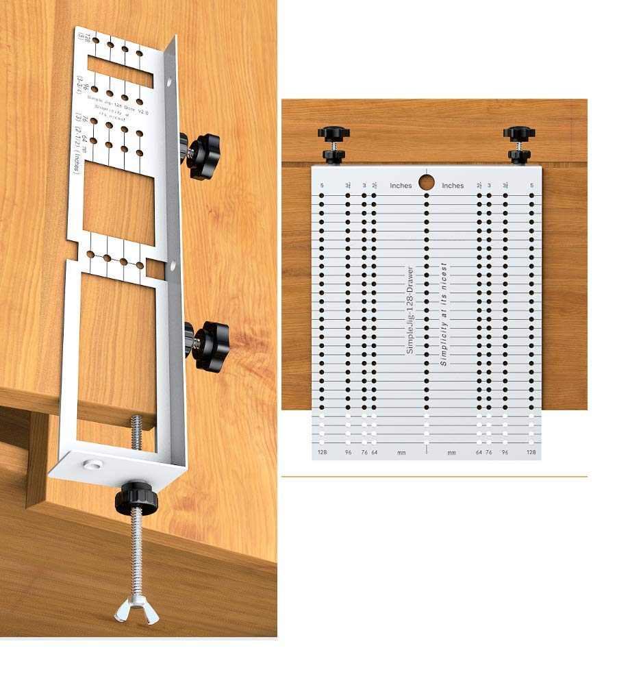 Jig Template for cabinet knobs pulls and handles installation, the SimpleJig - version 2