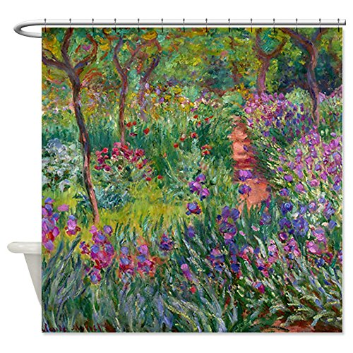 CafePress Giverny Iris Garden Decorative Fabric Shower Curtain (69