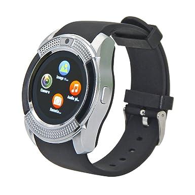 cxyp Bluetooth pantalla táctil reloj inteligente con cámara tarjeta SIM/ranura para tarjeta TF,