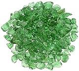 American Fireglass Light Green Recycled Fire Pit Glass - Medium (18-28Mm), 20 lb. Bag