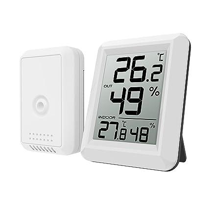 Oria Digital Termómetro Higrómetro Interiores y Exteriors, Medidor de Humedad Temperatura con Sensor, Gran