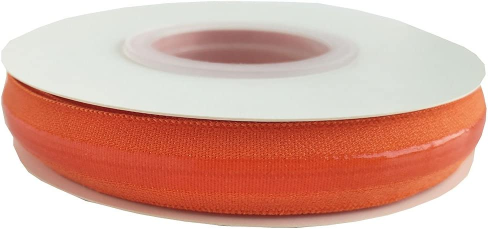 tan Multi Colors Stretchy Silicone Elastic Tape 5//8 Width for Garment Accessory /& Hairbow 5 Yards per Roll