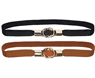 swankybelts Womens Rectangle Gold Starfish Buckle And Leather Belt