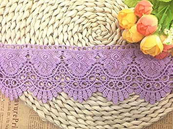 4 Yards in one Package 9CM Width Europe Chips Pattern Inelastic Embroidery Lace Trim,Curtain Tablecloth Slipcover Bridal DIY Clothing//Accessories. Gold