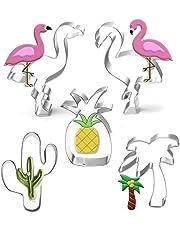 Cortador de Galletas Hawaiano, Conjunto de 5 Piezas de Cactus, piña, Flamenco,