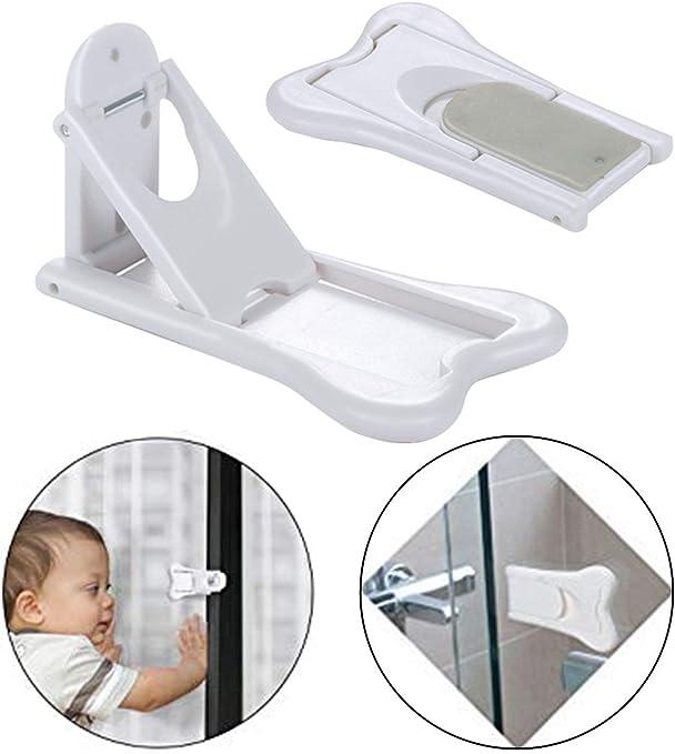 Cerradura de puerta corredera Sharlity para seguridad de los niños, armario, puertas correderas de ducha, ventana,