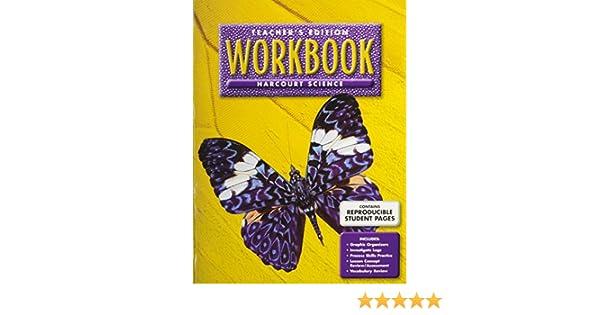 Harcourt Science Workbook, Teacher's Edition, Grade 3, Units A-F ...