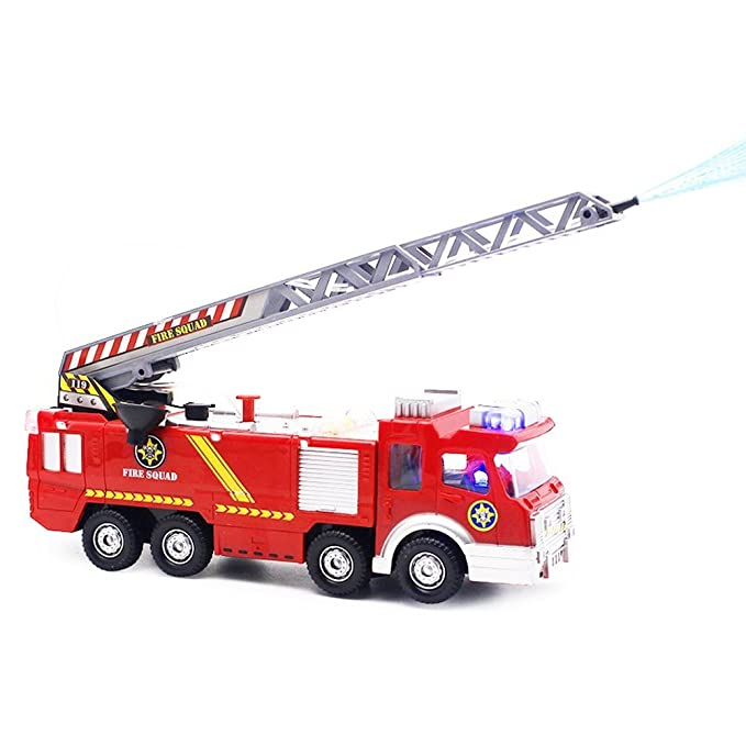 Fire Truck Toy with Lights and Sound Sirens Extending Ladder