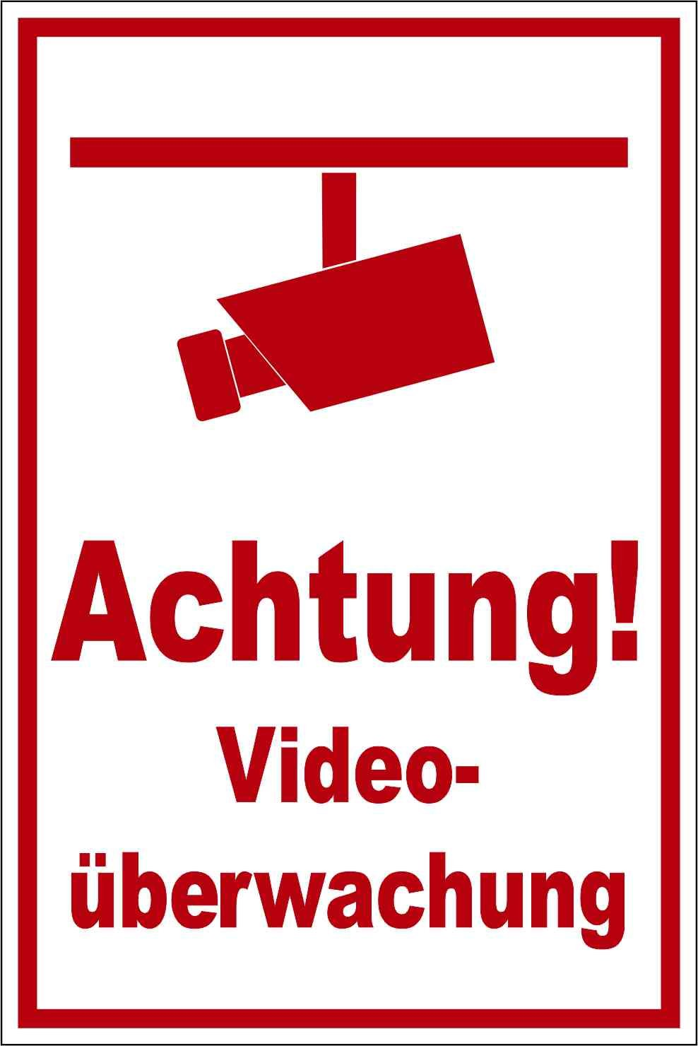 Kleberio® Warnschild 30 x 20 cm - Achtung! - stabile Aluminiumverbundplatte