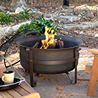 Red Ember Brockton Steel Cauldron 34 in. Fire Pit with Free Cover