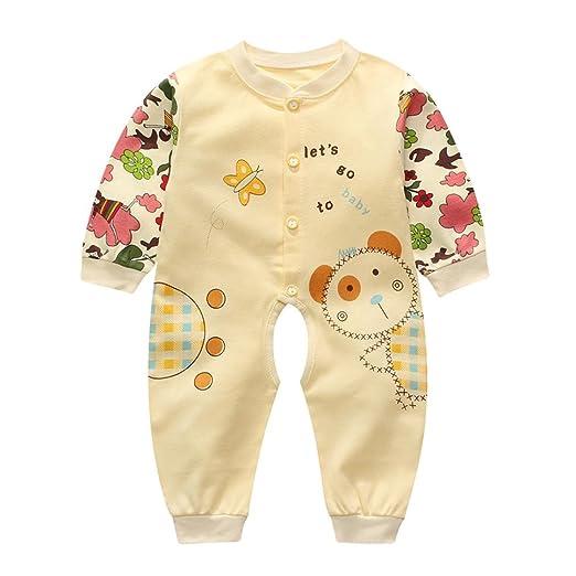 495e2520590c Amazon.com  Allywit Newborn Infant Baby Boy Girl Cartoon Long Sleeve ...