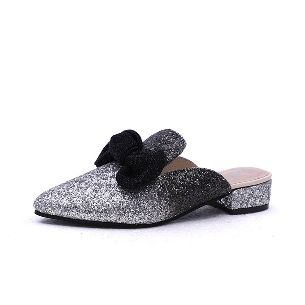 PRETTYHOMEL Mules Shoes Women Leather Ladies Low Heel Loafers Square Toe Comfortable Slippers