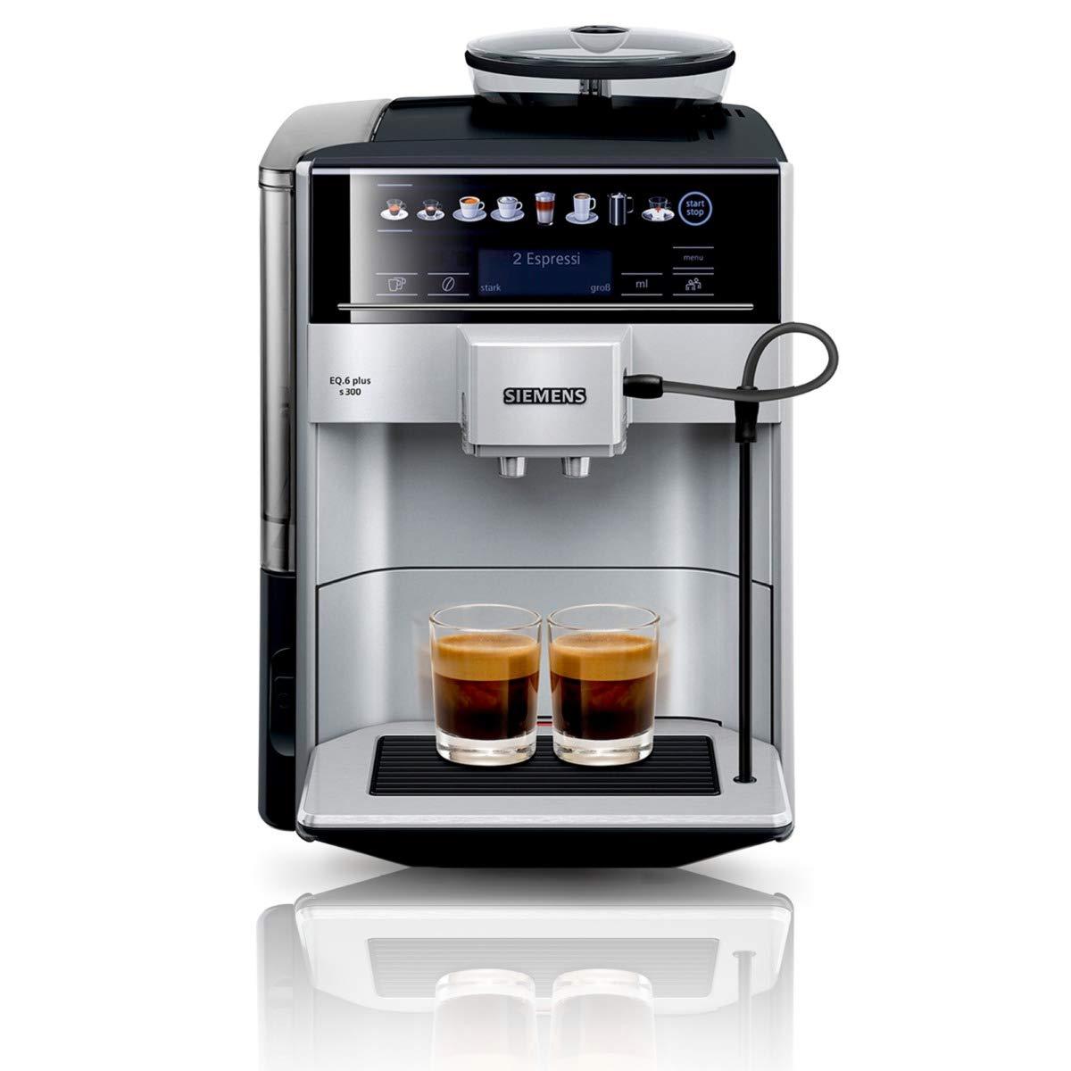 Siemens te653501de per caffè espresso automatica EQ.6Plus S300, 1500W, Argento 1500W