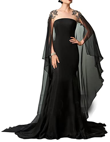 OYISHA Women's Long Appliqued Evening Cocktail Dress Beaded Celebrity Gown PM241