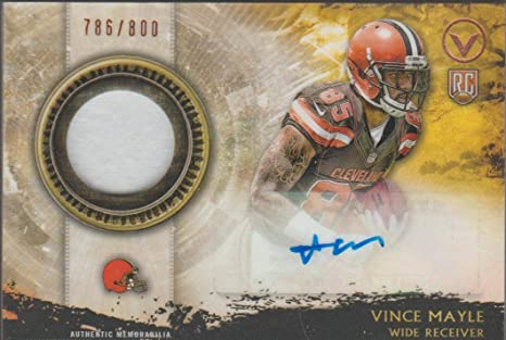 Amazon.com: 2015 Topps Vince Mayle Browns 786/800 Auto/Jersey ...