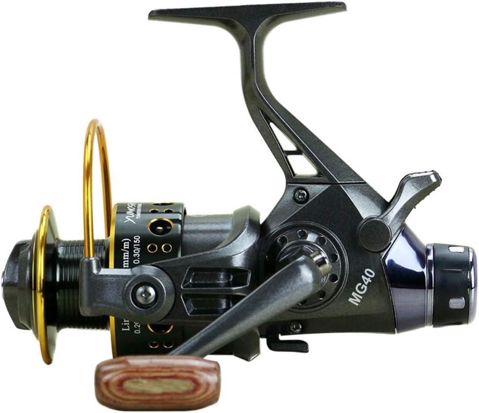 RONSHIN Fishing Goods Double Brake Design Fishing Reel Super Strong Carp Fishing Feeder Spinning Reel Type Fishing Reel MG30-60