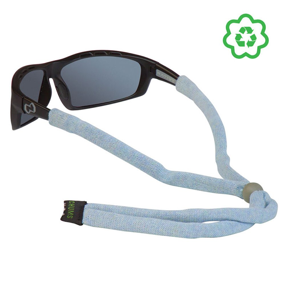 Chums Upcycled Cotton Heather Adjustable Eyewear Retainer Sky 12424361