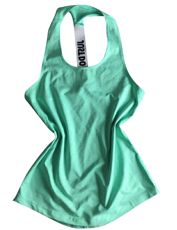 d6b24c5b68493 TeeDoc Women Activewear Gym Racerback Blouse Sport Shirt Yoga Tank Top