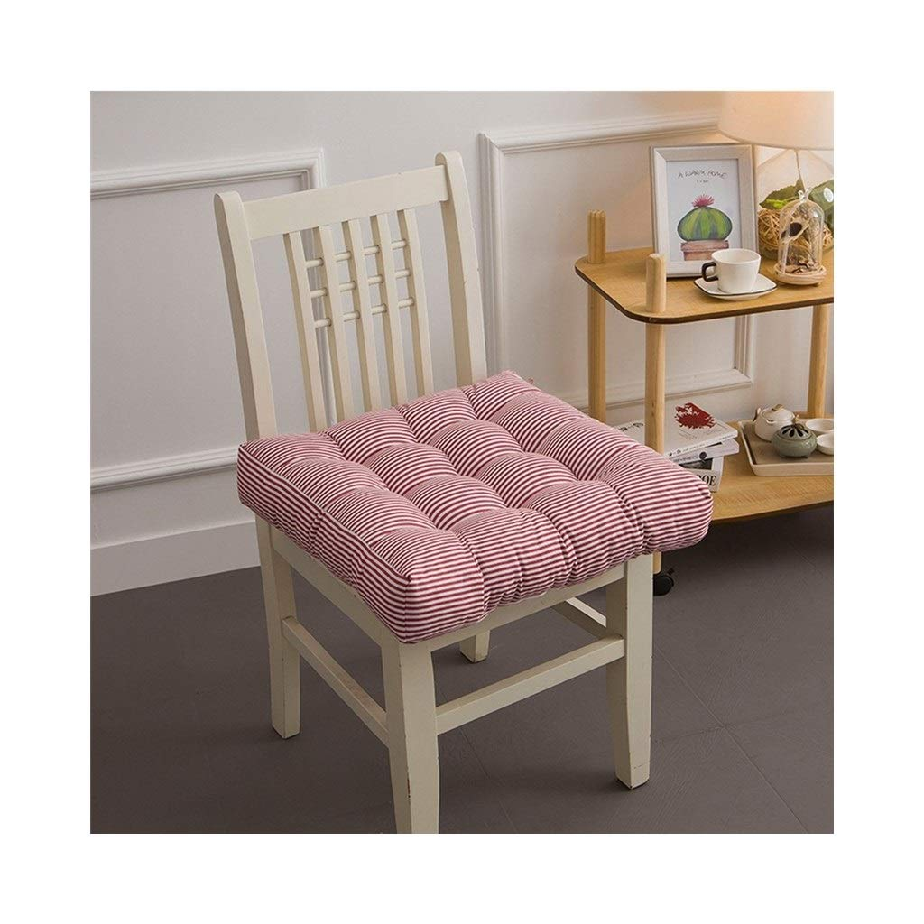 Cushion, Padded Cushion Chair Cushion Office Cushion Student Cushion Classroom Stool Butt Pad Four Seasons Breathable Square (color : Red, Size : 40cmx40cmx10cm)