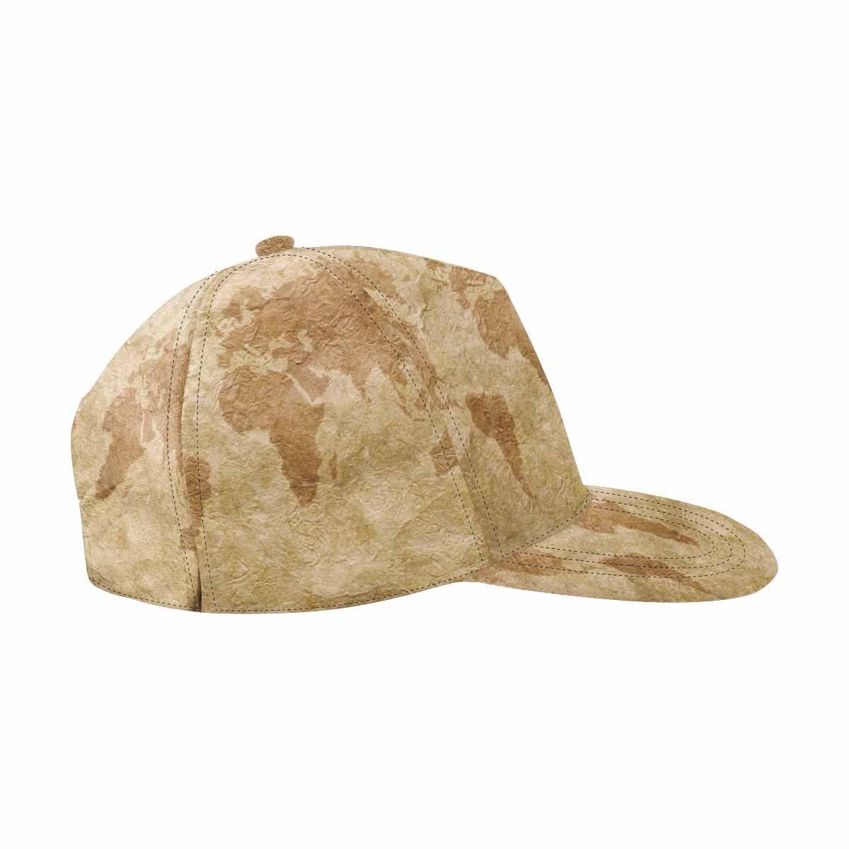 InterestPrint Compass Paper and Wooden Board Unisex Hip Hop Outdoor Sport Snapback Hats