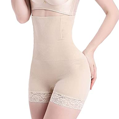 e232eb3df0b7c Womens Shapewear Panties Bodysuit Body Shaper High Waist Tummy Control  Seamless Strapless Slimming Panty Briefs (