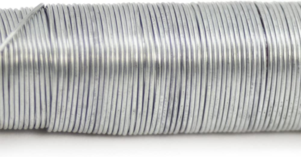 Bindedraht verzinkt 300 g com-four/® 3X Blumenwickeldraht-Set St/ärke 65 mm 03 St/ück - verzinkt auf Holzstab gewickelt