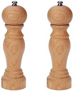 product image for Fletchers' Mill Enchantment Salt & Pepper Mill, Cherry - 8 Inch, Adjustable Coarseness Fine to Coarse, MADE IN U.S.A.