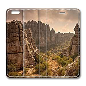 iPhone 6 Case, iPhone 6 Leather Case, Fashion Protective PU Leather Slim Flip Case [Stand Feature] Cover for New Apple iPhone 6(4.7 inch) - Antequera Mountains