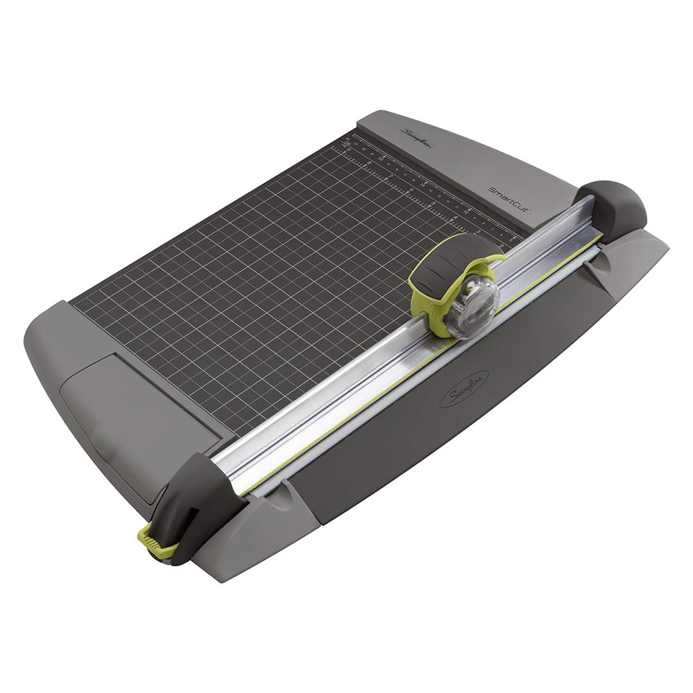 Swingline Paper Trimmer, Rotary Paper Cutter, 12'' Cut Length, 15 Sheets Capacity, Commercial, Heavy Duty, SmartCut (8912) by Swingline