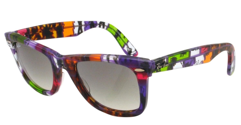 99e833dd2b Ray Ban RB2140 Wayfarer Sunglasses-1109 32 Multicolor (Gray Grad Lens)-50mm   Ray Ban  Amazon.ca  Clothing   Accessories
