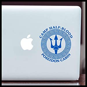 Camp Half-Blood Poseidon Cabin, Percy Jackson MEDIUM Vinyl Decal