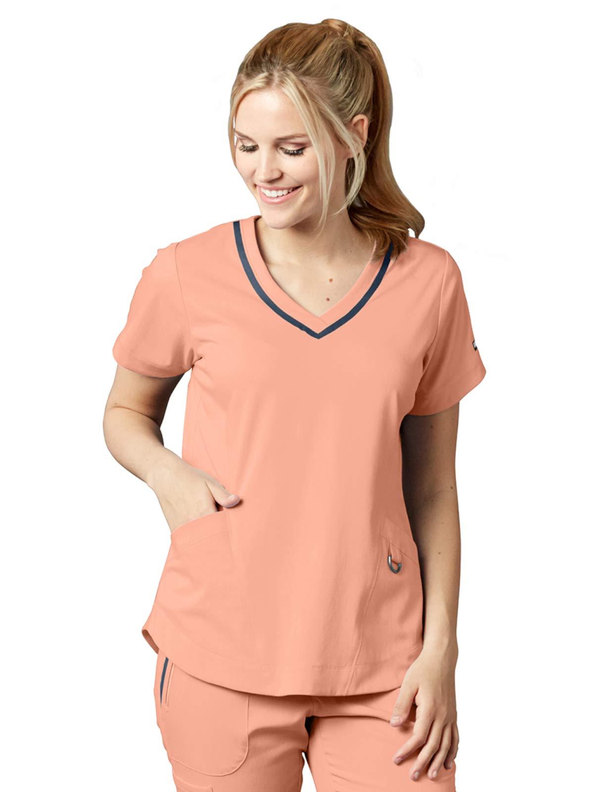 Grey's Anatomy Impact 7187 Harmony Scrub Top Petal Peach L