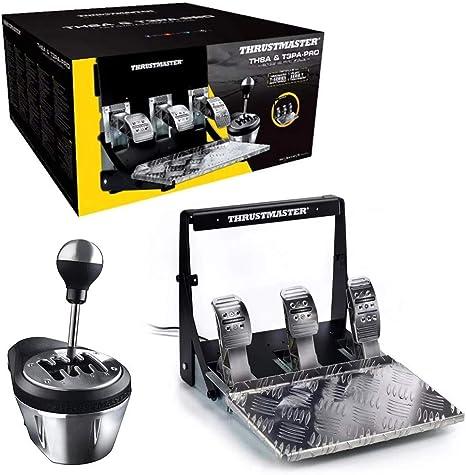 ThrustMaster Pack: TH8A & T3PA Pro Race Gear, caja de cambios manual y secuencial TH8A + juego de 3 pedales T3PA Pro 100% metalicos (Windows): Amazon.es: Videojuegos