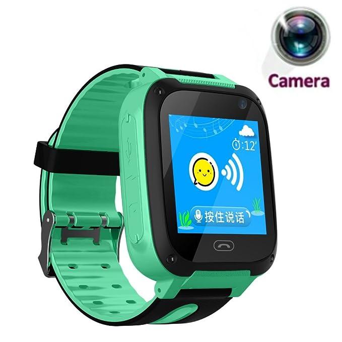 TKSTAR Smartwatch with Camera Waterproof for Elderly/Kids/Men/Women/Teens,Anti-Lost SOS APGS/LBS Camera Wrist Watch Pedometer,Timer Watch Activity ...