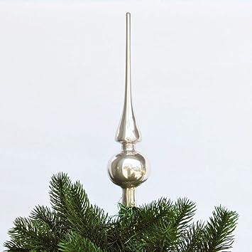 Christbaumspitze Glas 26 x 6 cm Glanz oder Matt Weihnachtsbaum Spitze