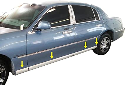 Lincoln Town Car Rear Bumper-Cover OEM Chrome Molding KIT