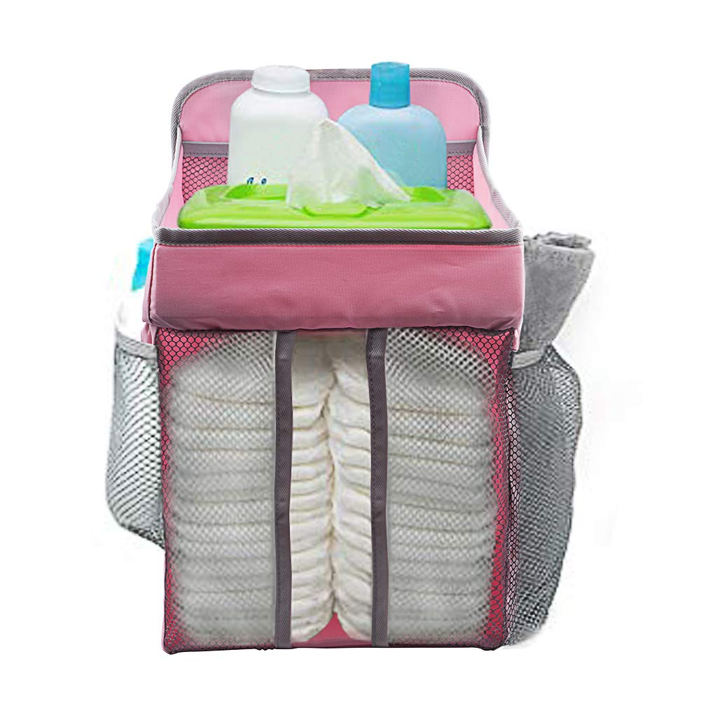 COCODE Hanging Diaper Caddy and Nursery Organize for Baby Crib, Playard, Changing Table, Diaper Caddy Stacker for Baby Essentials & Baby Shower Gifts for Newborn by COCODE