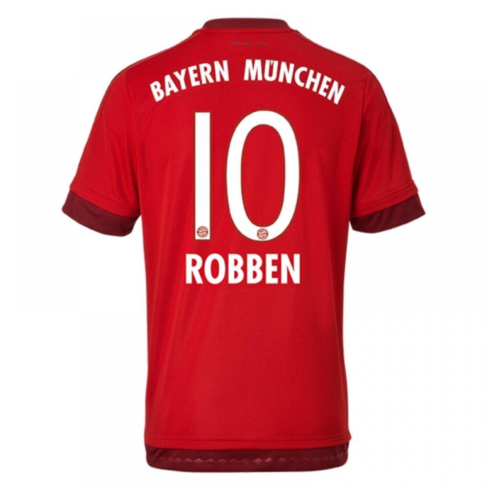 2015-16 Bayern Munich Home Shirt (Robben 10) B077VMVJ75Red Small 36-38\